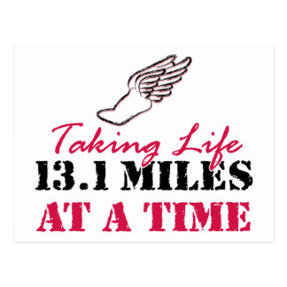 Taking Life 13.1 miles at a time Postcard