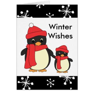 Taking Little Penguin for a Walk Card