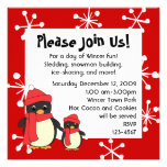 Taking Little Penguin for a Walk Personalized Invitation