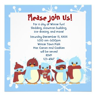 Taking Little Penguin for a Walk Personalized Invites