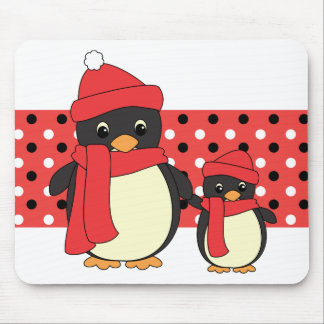 Taking Little Penguin for a Walk Mouse Pad