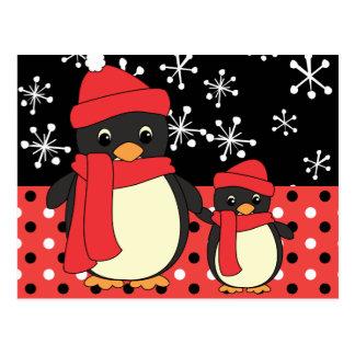 Taking Little Penguin for a Walk Postcard