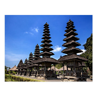 Taking man Ayun Temple, Bali Postcard