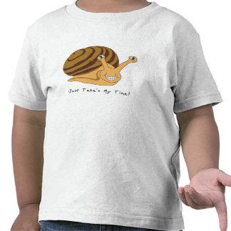 taking my time snail. t-shirt