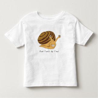 taking my time snail. toddler t-shirt