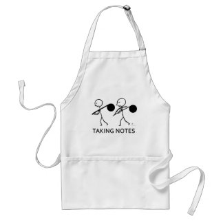 Taking Notes Adult Apron