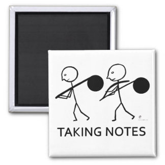 Taking Notes 2 Inch Square Magnet