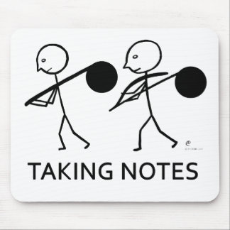 Taking Notes Mouse Pad