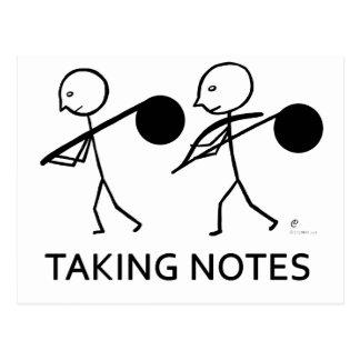 Taking Notes Postcard