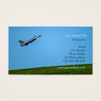 Taking Off/Air Force Fighter Jet/Pilot Business Card