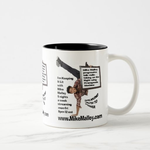 TAKING ON THE RIGHT WING Two-Tone COFFEE MUG