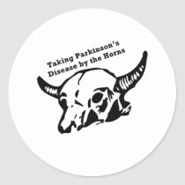 Taking Parkinson's Disease by the Horns Classic Round Sticker