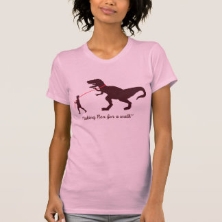 taking Rex for a walk T-Shirt - Customized