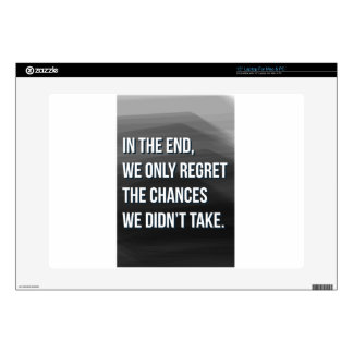 "Taking Risks Inspirational Motivational Quote 15"" Laptop Skins"