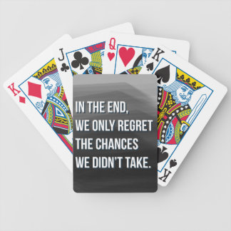Taking Risks Inspirational Motivational Quote Bicycle Playing Cards