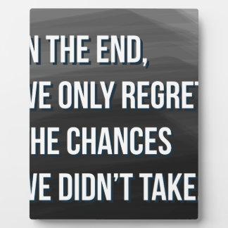 Taking Risks Inspirational Motivational Quote Plaque