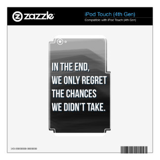 Taking Risks Inspirational Motivational Quote Skin For iPod Touch 4G