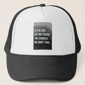 Taking Risks Inspirational Motivational Quote Trucker Hat