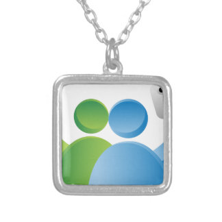 Taking Selfie with Smartphone Square Pendant Necklace