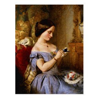 Taking Tea in the Drawing Room Postcard