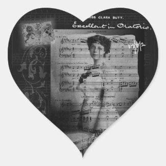 Taking Tea with Clara Butt Heart Stickers
