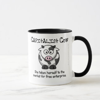 Taking the cow to the free market mug