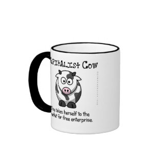 Taking the cow to the free market ringer mug