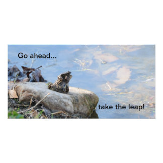 Taking the leap! personalized photo card