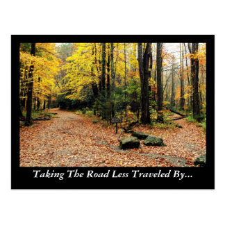 Taking The Road Less Traveled By Postcard