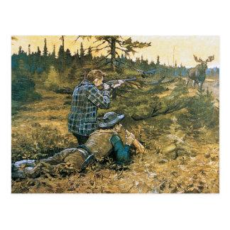 Taking the Shot Hunters Postcard