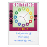 Taking time off from knitting to write to you card
