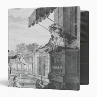 Taking up a bet, engraved by Camligue  c.1777 3 Ring Binder