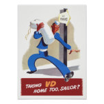 Taking VD Home Too Sailor Poster