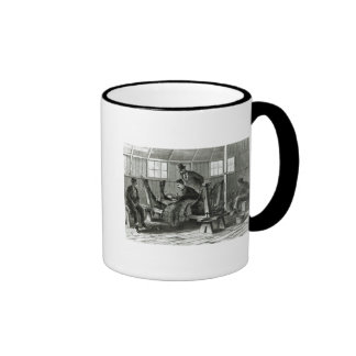 Taking virus from the calf ringer coffee mug
