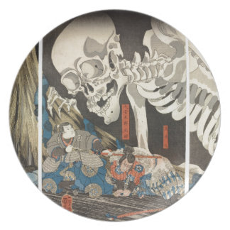 Takiyasha la bruja y el espectro esquelético platos de comidas