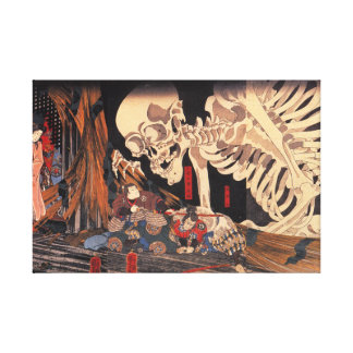 Takiyasha the Witch and the Skeleton Spectre Canvas Print
