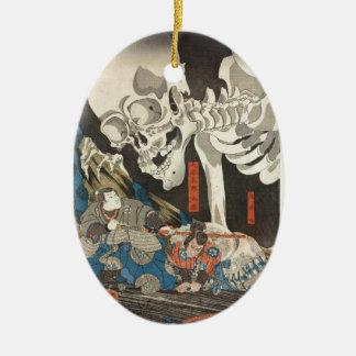 Takiyasha the Witch and the Skeleton Spectre Ceramic Ornament