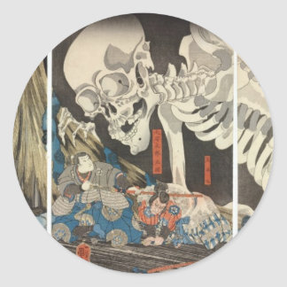 Takiyasha the Witch and the Skeleton Spectre Classic Round Sticker