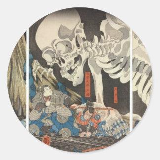 Takiyasha the Witch and the Skeleton Spectre Classic Round Sticker