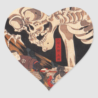 Takiyasha the Witch and the Skeleton Spectre Heart Sticker