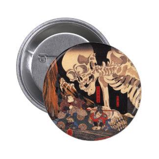 Takiyasha the Witch and the Skeleton Spectre Pinback Button