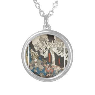 Takiyasha the Witch and the Skeleton Spectre Round Pendant Necklace