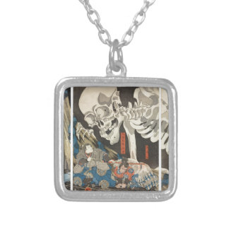 Takiyasha the Witch and the Skeleton Spectre Square Pendant Necklace