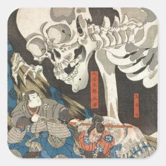 Takiyasha the Witch and the Skeleton Spectre Square Sticker