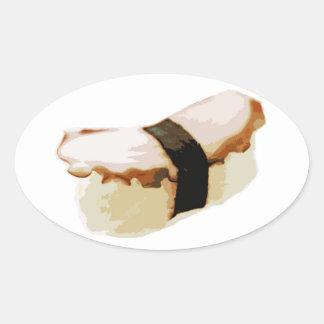 Tako Nigiri Sushi Oval Sticker