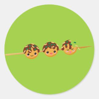 Takoyaki Classic Round Sticker