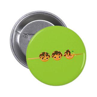 Takoyaki Pinback Button