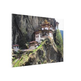 taktsang bhutan canvas print