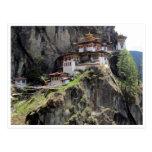 taktsang bhutan postcard