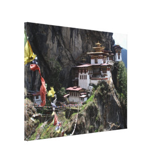 taktsang flags stretched canvas print